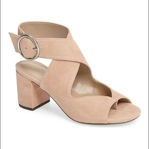 New Charles for Charles David suede sandals, 6.5
